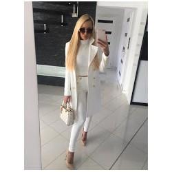 Płaszcz klasyczny premium - kolor biały