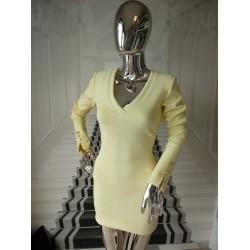 Zamszowa sukienka golfik