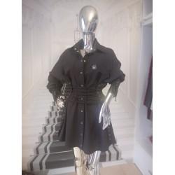 Sukienka Koszulowa z wiązaniem
