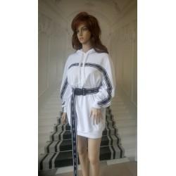 Sukienko-bluza dresowa z odblaskami