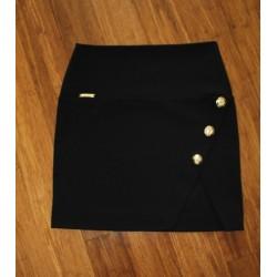 XS biała spódnica ze złotymi guzikami