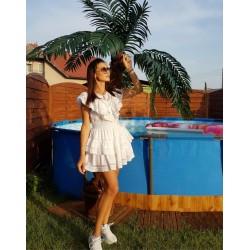 Bawełniana spódniczka  biała
