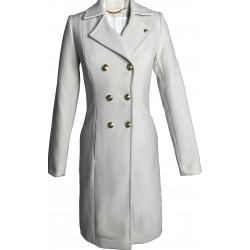 Płaszcz klasyczny premium - kolor jasnoszary