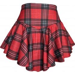 Spódnico-spodenki  czerwone wzór 3